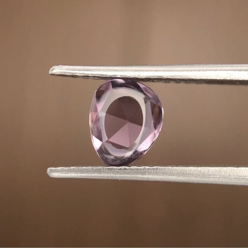 0.93ct Free Form Rose Cut Sapphire