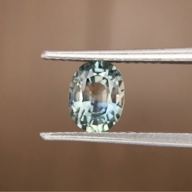 1.34ct Oval Mixed Cut Sapphire