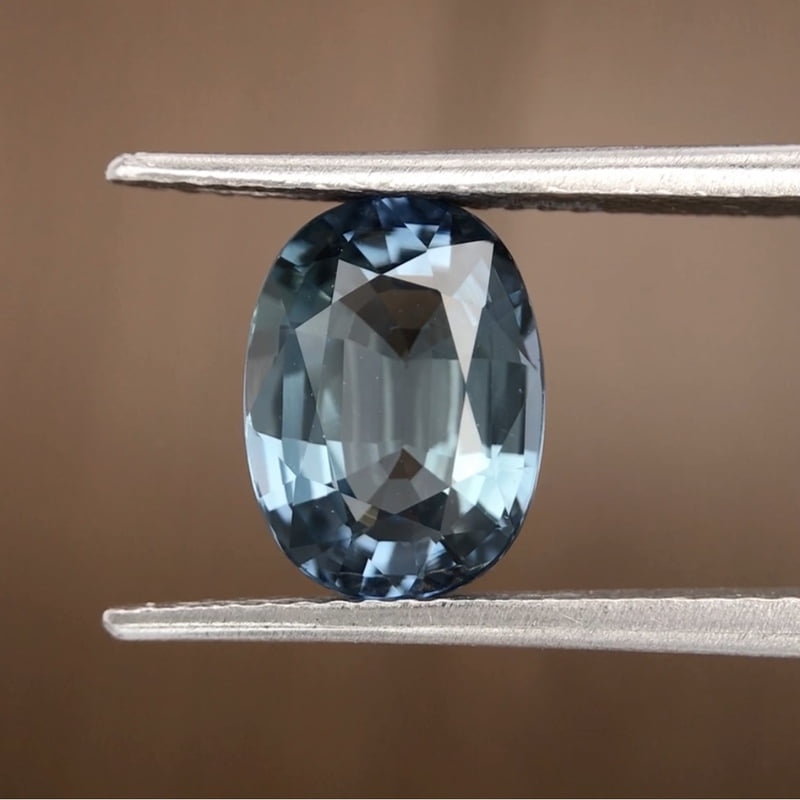 3.23ct Oval Mixed Cut Sapphire