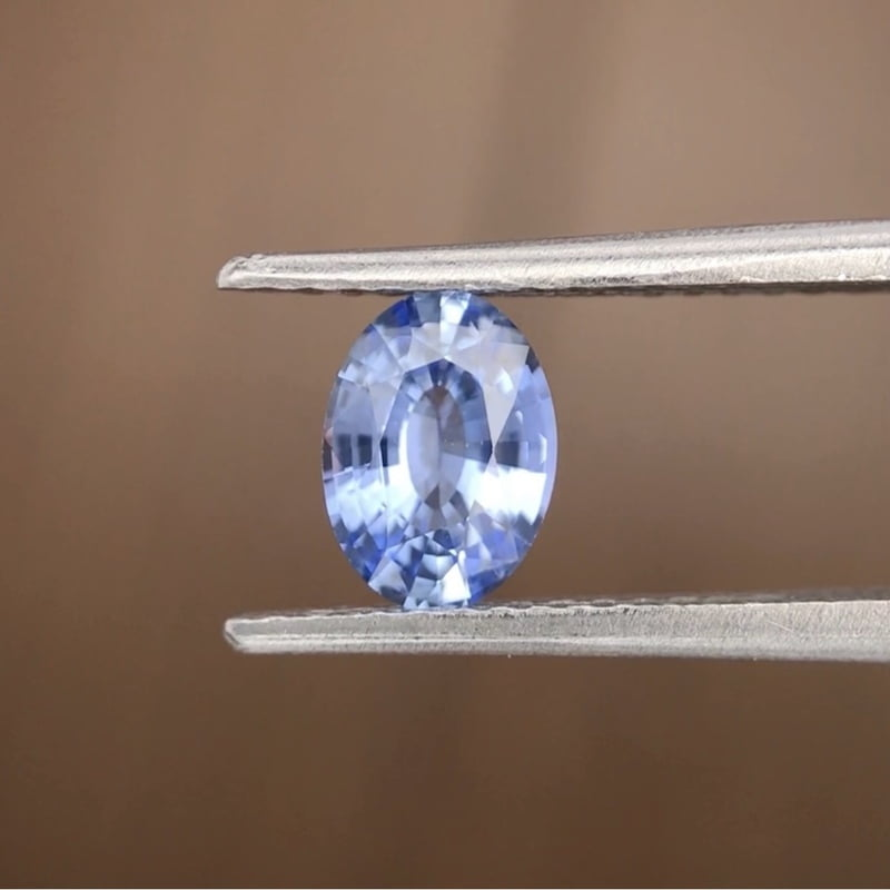 0.80ct Oval Mixed Cut Sapphire