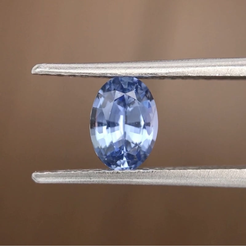 0.90ct Oval Mixed Cut Sapphire