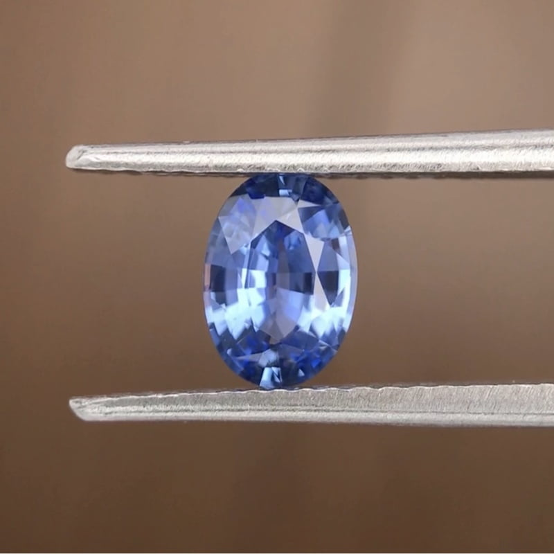 0.84ct Oval Mixed Cut Sapphire