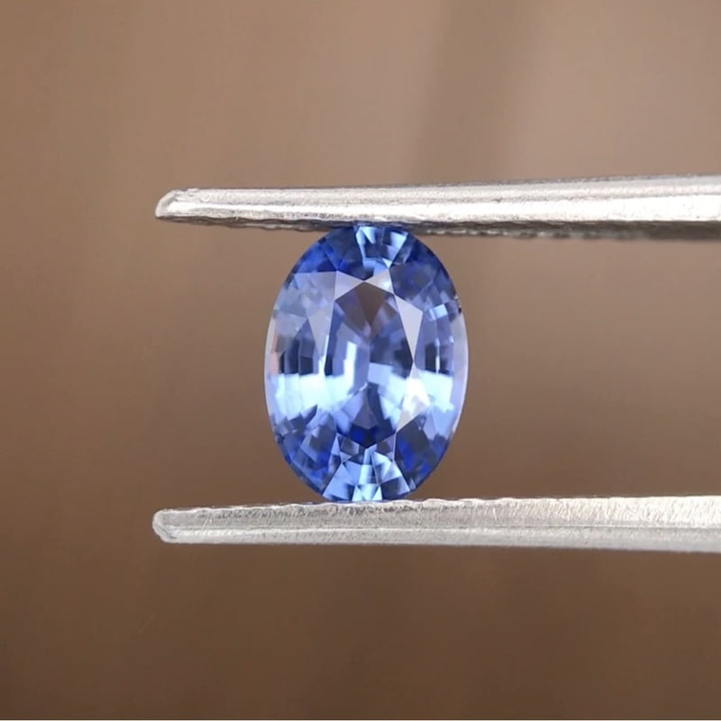 0.86ct Oval Mixed Cut Sapphire