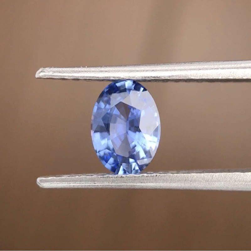 0.79ct Oval Mixed Cut Sapphire