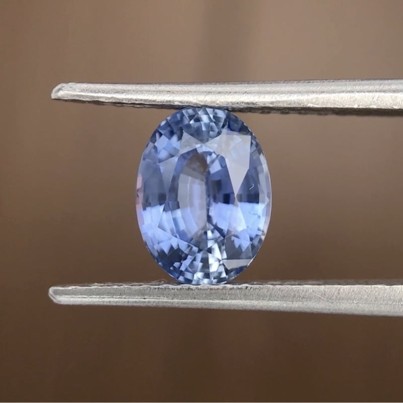 1.50ct Oval Mixed Cut Sapphire